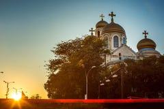 Domkyrkan av antagandet i Varna Royaltyfri Bild