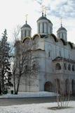 Domkyrkan av antagandet, Kreml, Moskva, Ryssland Royaltyfria Foton