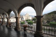 Domkyrkan av Antigua Arkivfoto