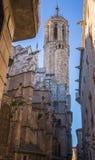 Domkyrkan av Barcelona Arkivbilder