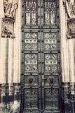Domkyrkan av den Cologne detaljen fotografering för bildbyråer