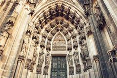 Domkyrkan av den Cologne detaljen arkivfoton