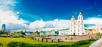 Domkyrkan av den heliga anden i Minsk - den huvudsakliga ortodoxa kyrkan Arkivfoto