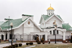 Domkyrkan av den heliga anden i Minsk - den huvudsakliga ortodoxa kyrkan fotografering för bildbyråer