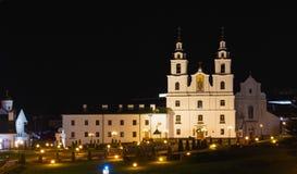 Domkyrkan av den heliga anden i Minsk, Vitryssland Arkivfoton