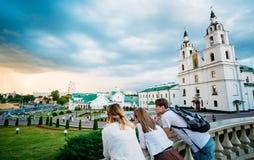 Domkyrkan av den heliga anden i Minsk, Vitryssland Royaltyfri Foto