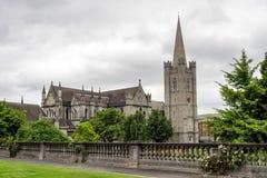 Domkyrkan av den heliga Treenighet, Kristuskyrka i Dublin, Irland royaltyfri bild