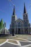 Domkyrkan av den obefläckade befruktningen Chanthaburi Arkivfoto
