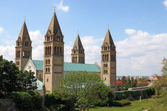 Domkyrkan av den Pecs Ungern Arkivbilder