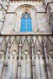 Domkyrkan av det heliga korset och helgonet Eulalia som är arkitektonisk Arkivfoton