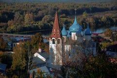 Domkyrkan av förklaringen Gorokhovets Den Vladimir regionen Slutet av September 2015 Royaltyfri Fotografi