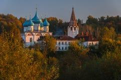 Domkyrkan av förklaringen Gorokhovets Den Vladimir regionen Slutet av September 2015 Arkivbild