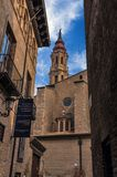 Domkyrkan av frälsaren eller laen Seo de Zaragoza är en Roman Cat fotografering för bildbyråer