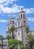 Domkyrkan av helgonet Augustin i Tucson Arkivfoto