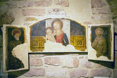Domkyrkan av helgonet Rufino, Assisi, Italien arkivfoto
