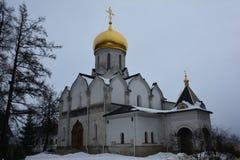 Domkyrkan av Kristi födelsen av det jungfruliga 15th århundradet, Zvenigorod, Ryssland Arkivbilder