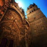 Domkyrkan av Salamanca, Spanien arkivbilder