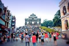 Domkyrkan av Sanktt Paul i Macao Arkivfoto