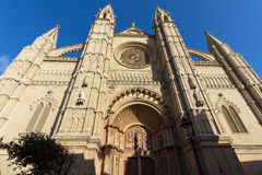 Domkyrkan av Santa Maria Palma de Mallorca Arkivbild