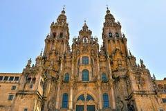 Domkyrkan av Santiago de Compostela. galicia s arkivbilder