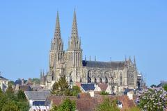 Domkyrkan av ser i Frankrike royaltyfri bild