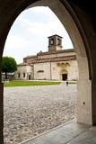 Domkyrkan av Spilimbergo, lite stad i norr öst av Ita Royaltyfri Fotografi