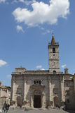 domkyrkan av St Emidio i den Arringo fyrkanten Royaltyfri Foto
