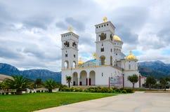 Domkyrkan av St Jovan Vladimir, stång, Montenegro Fotografering för Bildbyråer