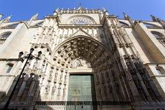 Domkyrkan av St Mary av se i Seville, Andalusia arkivbilder