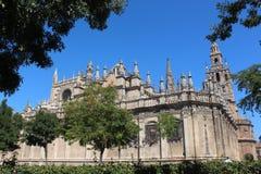 Domkyrkan av St Mary av sespanjoren: Catedral de Jultomten MarÃa de la Sede, Andalusia, Spanien arkivbilder