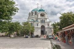 Domkyrkan av St Nicholas i Evpatoria Arkivfoto