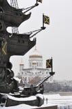 domkyrkan christ moscow parts frälsare Ryssland Royaltyfri Fotografi