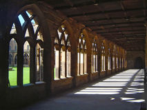 domkyrkan cloisters durham royaltyfri fotografi