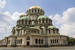 Domkyrkan för St Alexander Nevsky Royaltyfria Bilder