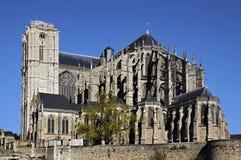 domkyrkan france julien den Le Mans sainten Royaltyfri Foto
