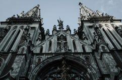 Domkyrkan i den gotiska stilen Arkivbild