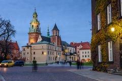 Domkyrkan i den Wawel slotten Royaltyfri Foto