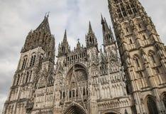 Domkyrkan i Rouen, Normandie, Frankrike Fotografering för Bildbyråer