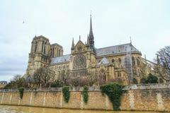 Domkyrkan Notre Dame de paris, Paris, Frankrike Royaltyfri Bild