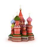 Domkyrkan på det rött kvadrerar i Moscow, Ryssland stock illustrationer
