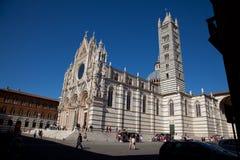 Domkyrkan till Siena Royaltyfri Fotografi