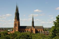 Domkyrkan Uppsala Lizenzfreies Stockfoto