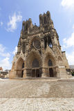 DomkyrkaNotre fördämning, Reims Arkivbild