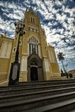 Domkyrkastad Santa Rita Do Passa Quatro, São Paulo, Brasilien - kyrklig stad Santa Rita Do Passa Quatro, São Paulo, Brasilien royaltyfri foto