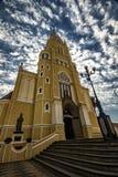 Domkyrkastad Santa Rita Do Passa Quatro, São Paulo, Brasilien - kyrklig stad Santa Rita Do Passa Quatro, São Paulo, Brasilien fotografering för bildbyråer