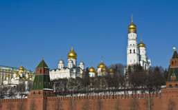domkyrkor kremlin moscow Arkivbilder