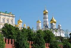 domkyrkor kremlin moscow royaltyfri fotografi