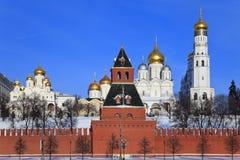 domkyrkor kremlin moscow russia Fotografering för Bildbyråer