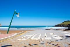 Dommages à Lekeitio après ouragan Christine image libre de droits