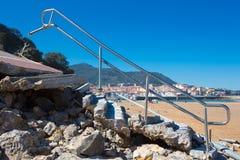 Dommages à Lekeitio après ouragan Christine photographie stock libre de droits